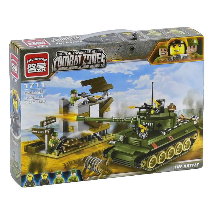 "Конструктор Brick 1711 ""Атака танка"" 380 деталей"
