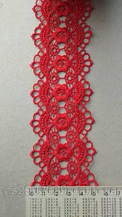 Кружево кольцами Красный, фото 2