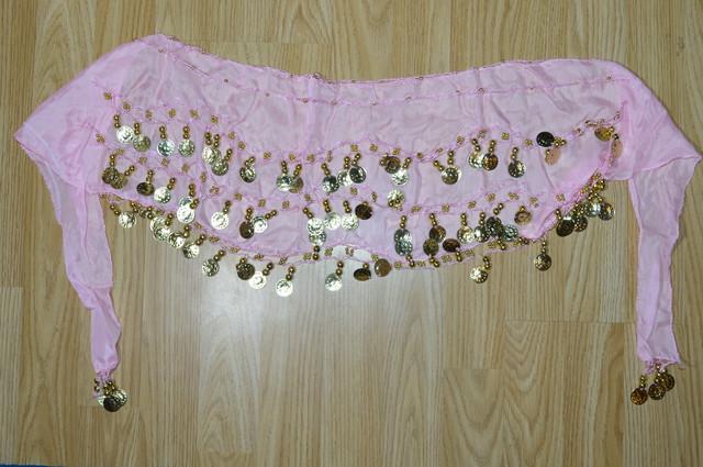 Пояс для восточных танцев розовый Фото 2