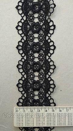Кружево кольцами Черный, фото 2