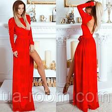 Женское бархатное платье в пол №530, фото 2
