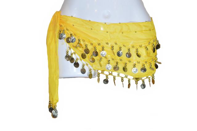 Пояс для восточных танцев желтый Фото 1