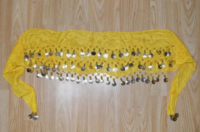 Пояс для восточных танцев желтый Фото 2