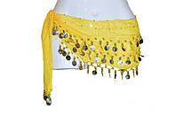 Пояс для восточных танцев желтый, фото 1