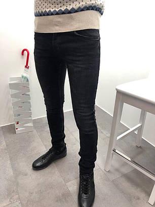 Джинсы мужские с заклепками черные, фото 2