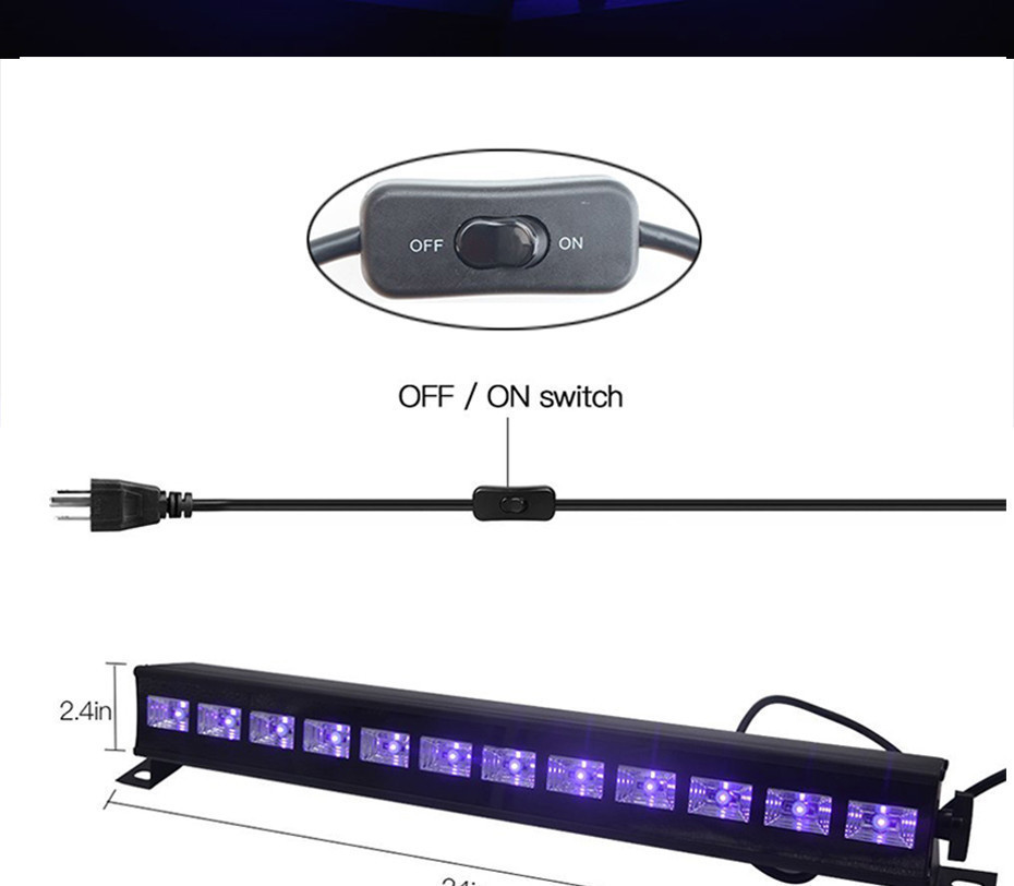 DJ ультрафиолетова панель прожектор Led 12x3 Wt с пультом ДУ