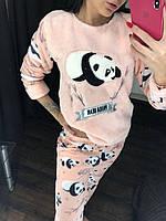 Тёплая пижама женская 4в1: кофта, штаны, тапочки, повязка на глаза. Размеры норма: 42-44, 44-46, 46-48, 48-50.
