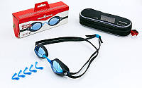 Очки для плавания стартовые MadWave RECORD BREAKER (поликарбонат, термопластичная резина, силикон)