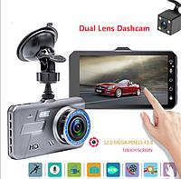 "А6Т HDR Full HD 4"" сенсорный (2 камеры) видеорегистратор"