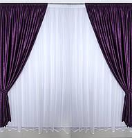 Готовые фиолетовые шторы в гостинную,спальню, фото 1