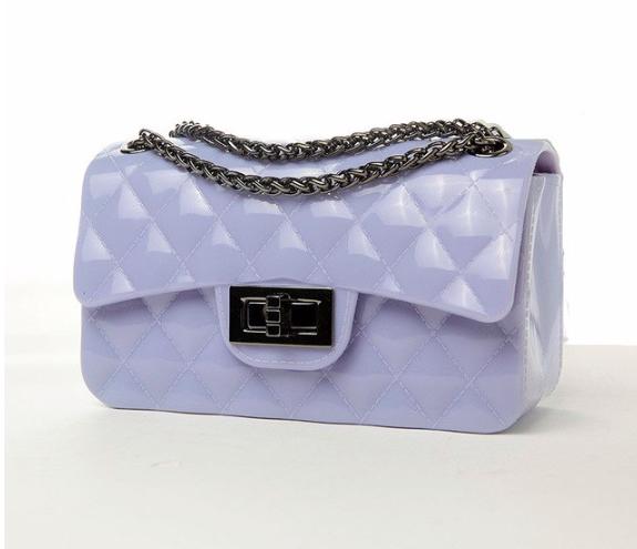 Сумка женская клатч через плечо силиконовая в стиле Фиолетовый