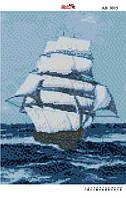 Алмазная вышивка «Паруса». АВ-3015 (А3). Полная выкладка