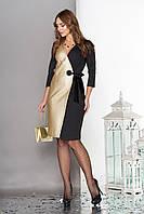 Коктейльное женское платье комбинированное, фото 1