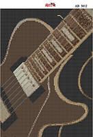 Алмазная вышивка «Гитара». АВ-3012 (А3). Полная выкладка