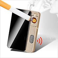 Зажигалка подарочная звукозаписывающая USB универсальная 33259, фото 1