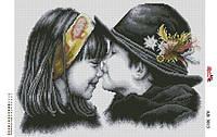 Алмазная вышивка «Мальчик+девочка». АВ-3013 (А3). Полная выкладка