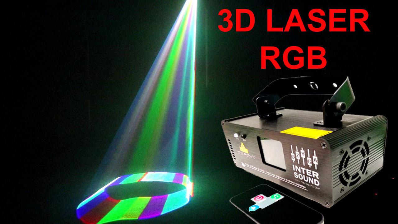 Диско лазер 3D эффектом 3 цвета c DMX512. TDM-RGB400. Светомузыка Dzyga