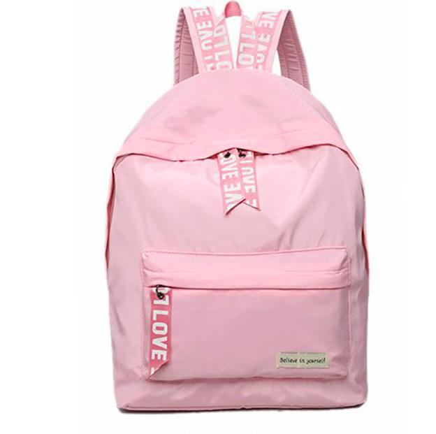 Рюкзак женский городской Love Розовый
