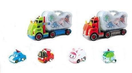 Автотрейлер Робокар Полі з машинкам (Robocar Poli)