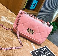 Сумка женская клатч через плечо в стиле mini Розовый, фото 1