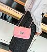 Сумка женская клатч через плечо в стиле mini Розовый, фото 3