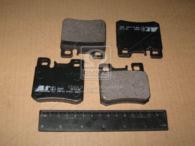 Колодка торм. MB C KLASSE W202/E KLASSE W124 задн. (пр-во ABS) 36687