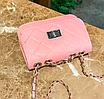 Сумка женская клатч через плечо в стиле mini Розовый, фото 5