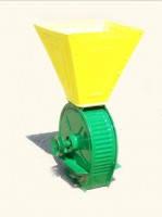 Зернодробилка под двигатель (желто-зеленая)
