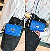 Сумка женская клатч через плечо в стиле mini Синий, фото 3