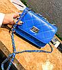 Сумка женская клатч через плечо в стиле mini Синий, фото 4