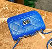 Сумка женская клатч через плечо в стиле mini Синий, фото 5