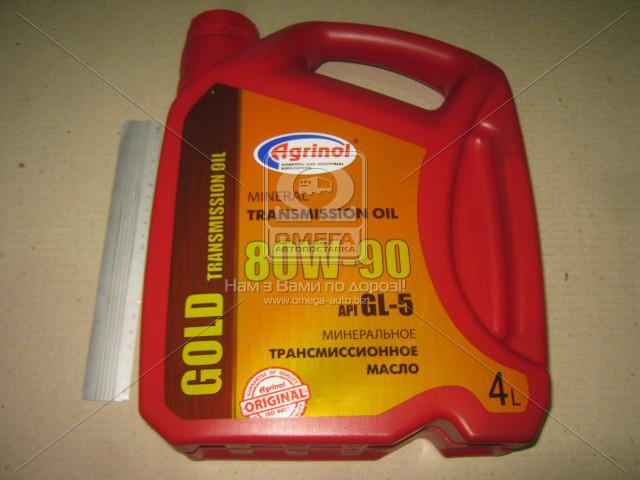 Масло трансмисс. Агринол Gold SAE 80W-90 API GL-5 (Канистра 4л) 4102789948