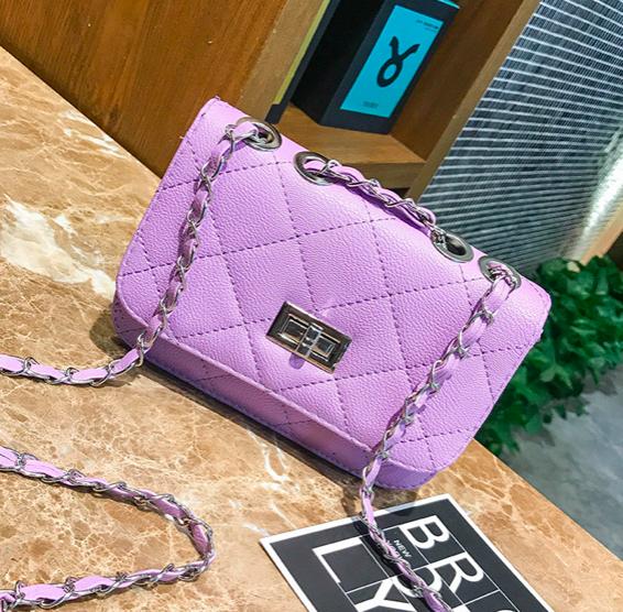 Сумка женская клатч через плечо в стиле mini Фиолетовый