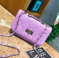 Сумка женская клатч через плечо в стиле mini Фиолетовый, фото 1