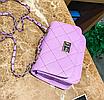 Сумка женская клатч через плечо в стиле mini Фиолетовый, фото 4
