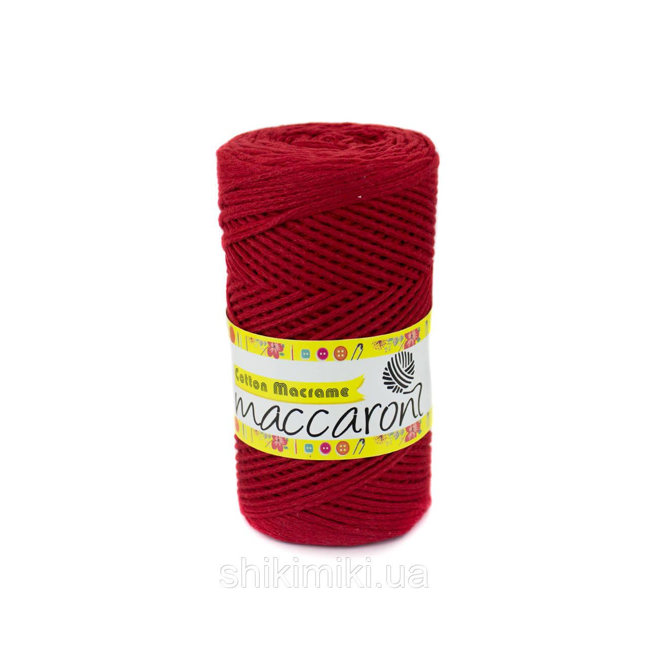 Эко Шнур Cotton Macrame, цвет Красный