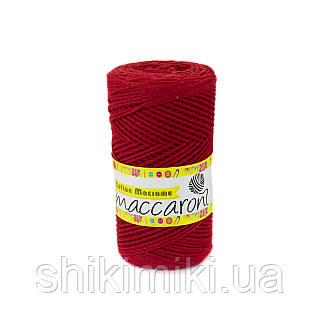 Трикотажный шнур Cotton Macrame, цвет красный