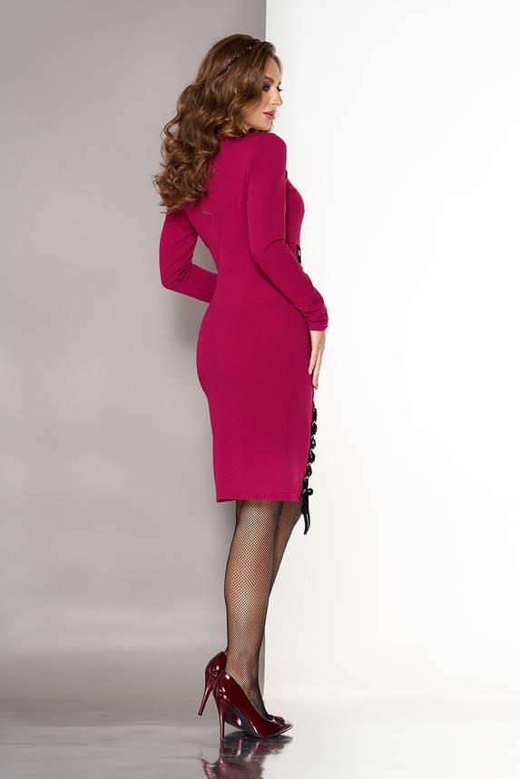 Нарядное платье с высокой талией вишня, фото 2