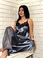 Пижама женская атласная майка и штаны