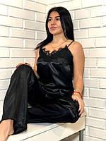 Черная пижама с кружевом