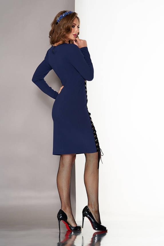 Нарядное платье с завышенной талией синее, фото 2