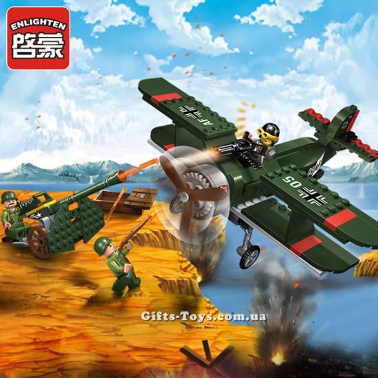 """Конструктор Brick 1705 """"Военный самолет"""" купить"""