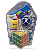 Логический набор с кубиком-рубика, кубиком-антистресс и логикой-змейкой (812)