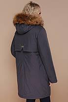 Зимний пуховик теплый женский  большие размеры 48-54, фото 2