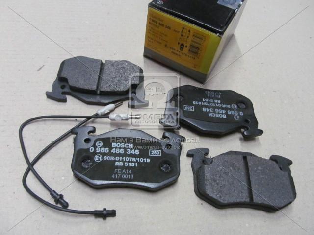 Торм колодки дисковые (пр-во Bosch) 0 986 466 346