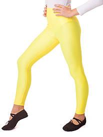 Лосини гімнастичні дитячі эластиковые для танців Жовті (ріст 104-152см)