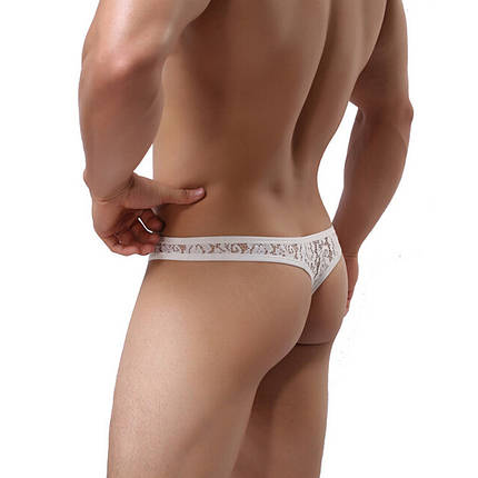 Трусы мужские Белые кружевные Размер ХL (обхват талии 86-96 см) G03.3, фото 2