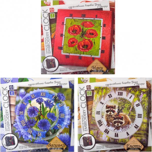 Вышивка гладью «Embroidery clock»
