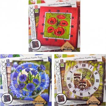 Вышивка гладью «Embroidery clock» , фото 2