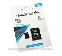Карта памяти Team 8Gb class 10 (adapter SD)